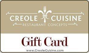 Gift Card Creole Cuisine