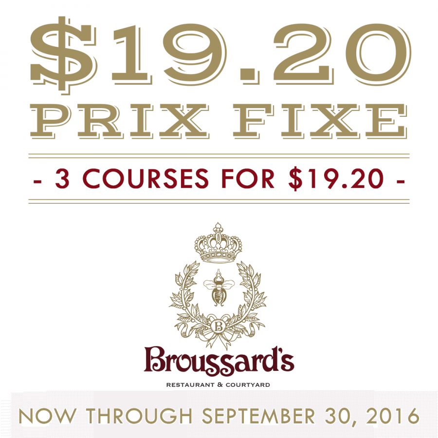 Broussard's Dining Special, Fench Quarter Restaurant