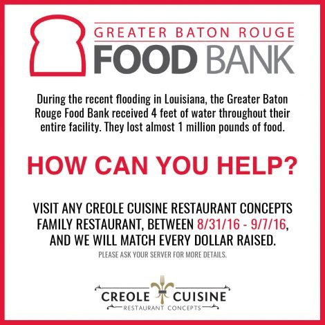 Creole Cuisine Charity Work